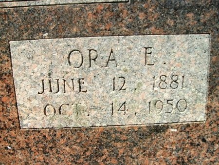 HALL HINSON, ORA E (CLOSEUP) - Union County, Arkansas | ORA E (CLOSEUP) HALL HINSON - Arkansas Gravestone Photos