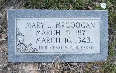 MCGOOGAN, MARY J - Union County, Arkansas | MARY J MCGOOGAN - Arkansas Gravestone Photos
