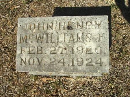MCWILLIAMS, JR, JOHN HENRY - Union County, Arkansas | JOHN HENRY MCWILLIAMS, JR - Arkansas Gravestone Photos