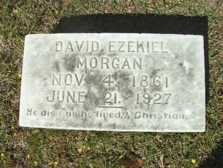 MORGAN, DAVID EZEKIAL - Union County, Arkansas | DAVID EZEKIAL MORGAN - Arkansas Gravestone Photos