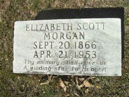 MORGAN, ELIZABETH - Union County, Arkansas | ELIZABETH MORGAN - Arkansas Gravestone Photos