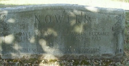 """NOWLES, DAVID SPARKS """"DAVE"""" - Union County, Arkansas 