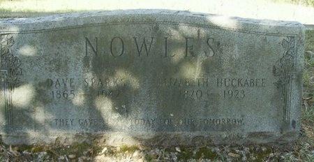 HUCKABEE NOWLES, ELIZABETH - Union County, Arkansas | ELIZABETH HUCKABEE NOWLES - Arkansas Gravestone Photos