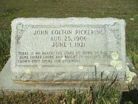 PICKERING, JOHN COLTON - Union County, Arkansas | JOHN COLTON PICKERING - Arkansas Gravestone Photos