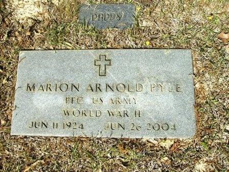 PYLE (VETERAN WWII), MARION ARNOLD - Union County, Arkansas | MARION ARNOLD PYLE (VETERAN WWII) - Arkansas Gravestone Photos
