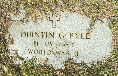 PYLE (VETERAN WWII), QUINTIN GILBERT - Union County, Arkansas | QUINTIN GILBERT PYLE (VETERAN WWII) - Arkansas Gravestone Photos