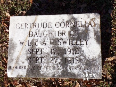 SWILLEY, GERTRUDE CORNELIA - Union County, Arkansas   GERTRUDE CORNELIA SWILLEY - Arkansas Gravestone Photos