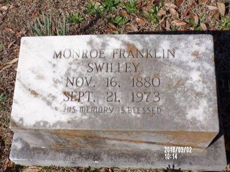 SWILLEY, MONROE FRANKLIN - Union County, Arkansas | MONROE FRANKLIN SWILLEY - Arkansas Gravestone Photos