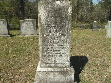TATUM, ELSIE C - Union County, Arkansas | ELSIE C TATUM - Arkansas Gravestone Photos