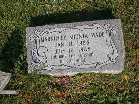WADE, MARNIECEY SHUNTA - Union County, Arkansas | MARNIECEY SHUNTA WADE - Arkansas Gravestone Photos