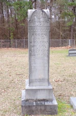 WILSON, ARREN - Union County, Arkansas | ARREN WILSON - Arkansas Gravestone Photos