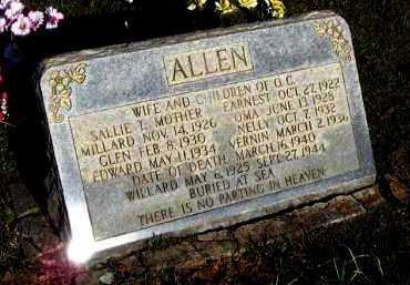 ALLEN, EDWARD - Van Buren County, Arkansas | EDWARD ALLEN - Arkansas Gravestone Photos