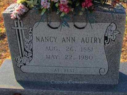 AUTRY, NANCY ANN - Van Buren County, Arkansas   NANCY ANN AUTRY - Arkansas Gravestone Photos