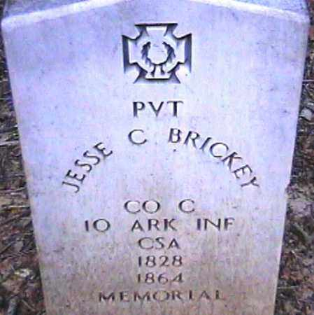 BRICKEY  (VETERAN CSA), JESSE C - Van Buren County, Arkansas | JESSE C BRICKEY  (VETERAN CSA) - Arkansas Gravestone Photos