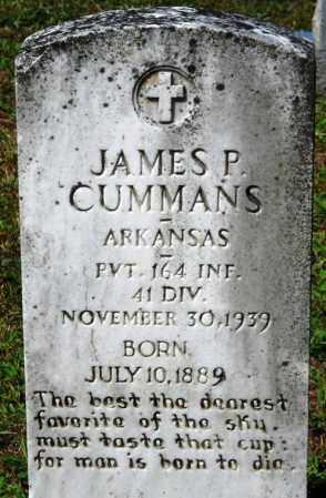 CUMMANS (VETERAN), JAMES P - Van Buren County, Arkansas | JAMES P CUMMANS (VETERAN) - Arkansas Gravestone Photos