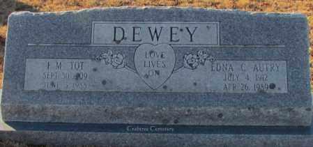 "DEWEY, F M ""TOOT"" - Van Buren County, Arkansas | F M ""TOOT"" DEWEY - Arkansas Gravestone Photos"