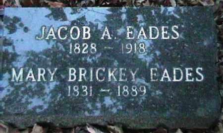 EADES, JACOB A. - Van Buren County, Arkansas | JACOB A. EADES - Arkansas Gravestone Photos