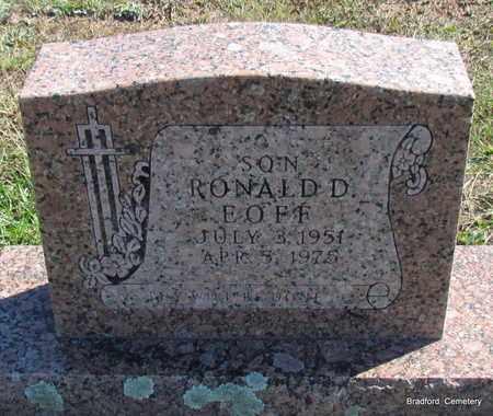 EOFF, RONALD D - Van Buren County, Arkansas | RONALD D EOFF - Arkansas Gravestone Photos