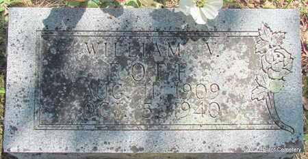 EOFF, WILLIAM VIRGIL - Van Buren County, Arkansas | WILLIAM VIRGIL EOFF - Arkansas Gravestone Photos