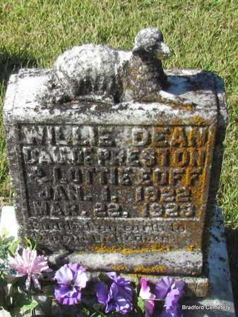 EOFF, WILLIE DEAN - Van Buren County, Arkansas | WILLIE DEAN EOFF - Arkansas Gravestone Photos