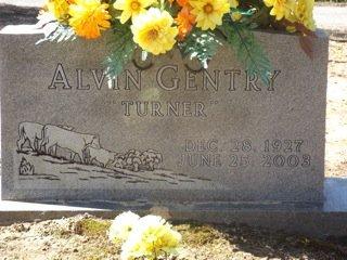 GENTRY, ALVIN (TURNER) - Van Buren County, Arkansas   ALVIN (TURNER) GENTRY - Arkansas Gravestone Photos