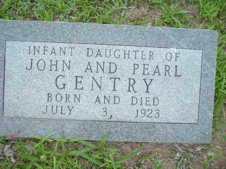 GENTRY, INFANT DAUGHTER - Van Buren County, Arkansas | INFANT DAUGHTER GENTRY - Arkansas Gravestone Photos