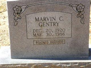 GENTRY, MARVIN C. - Van Buren County, Arkansas | MARVIN C. GENTRY - Arkansas Gravestone Photos