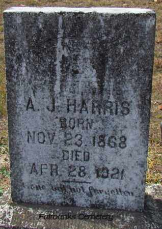 HARRIS, A J - Van Buren County, Arkansas | A J HARRIS - Arkansas Gravestone Photos