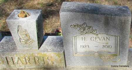 HARRIS, H GEVAN (CLOSE UP) - Van Buren County, Arkansas | H GEVAN (CLOSE UP) HARRIS - Arkansas Gravestone Photos
