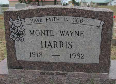HARRIS, MONTE WAYNE - Van Buren County, Arkansas | MONTE WAYNE HARRIS - Arkansas Gravestone Photos