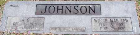 JOHNSON, A O - Van Buren County, Arkansas | A O JOHNSON - Arkansas Gravestone Photos