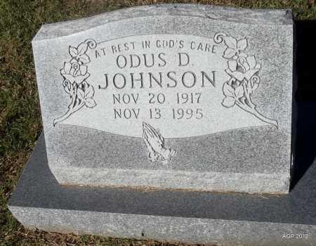 JOHNSON, ODUS D - Van Buren County, Arkansas   ODUS D JOHNSON - Arkansas Gravestone Photos