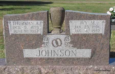 JOHNSON, THURMAN A - Van Buren County, Arkansas | THURMAN A JOHNSON - Arkansas Gravestone Photos