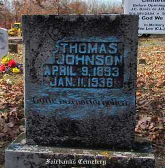 JOHNSON, THOMAS - Van Buren County, Arkansas | THOMAS JOHNSON - Arkansas Gravestone Photos
