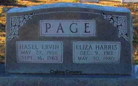 PAGE, HASEL ERVIN - Van Buren County, Arkansas | HASEL ERVIN PAGE - Arkansas Gravestone Photos