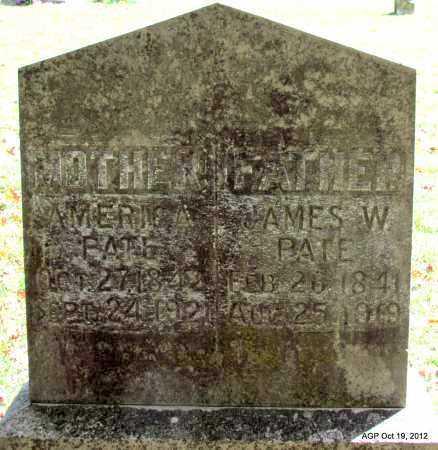 PATE, AMERICA - Van Buren County, Arkansas   AMERICA PATE - Arkansas Gravestone Photos