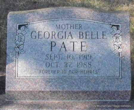 PATE, GEORGIA BELLE - Van Buren County, Arkansas | GEORGIA BELLE PATE - Arkansas Gravestone Photos