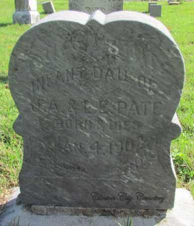 PATE, INFANT DAUGHTER - Van Buren County, Arkansas   INFANT DAUGHTER PATE - Arkansas Gravestone Photos