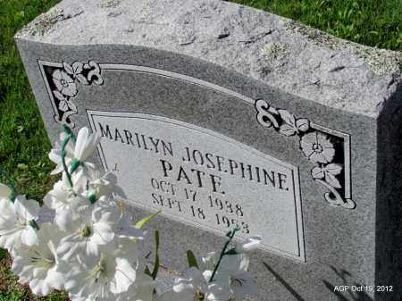 PATE, MARILYN JOSEPHINE - Van Buren County, Arkansas   MARILYN JOSEPHINE PATE - Arkansas Gravestone Photos