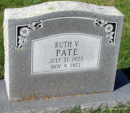 PATE, RUTH V - Van Buren County, Arkansas | RUTH V PATE - Arkansas Gravestone Photos