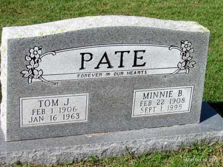 PATE, MINNIE B - Van Buren County, Arkansas | MINNIE B PATE - Arkansas Gravestone Photos