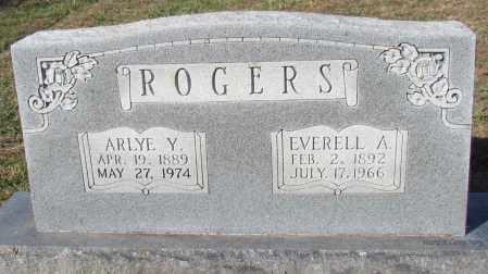 ROGERS, ARLYE Y - Van Buren County, Arkansas   ARLYE Y ROGERS - Arkansas Gravestone Photos