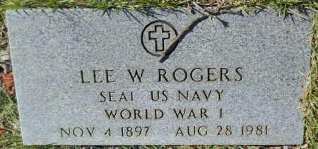 ROGERS (VETERAN WWI), LEE W - Van Buren County, Arkansas   LEE W ROGERS (VETERAN WWI) - Arkansas Gravestone Photos