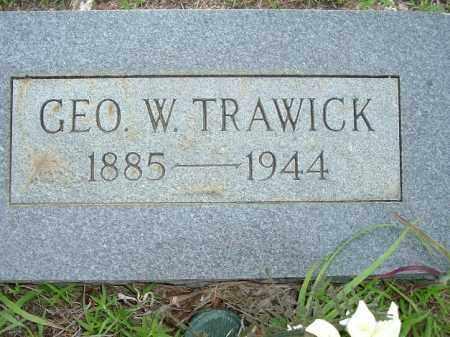 TRAWICK, GEORGE W - Van Buren County, Arkansas   GEORGE W TRAWICK - Arkansas Gravestone Photos