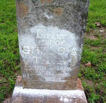 TRAWICK, INFANT SON - Van Buren County, Arkansas   INFANT SON TRAWICK - Arkansas Gravestone Photos