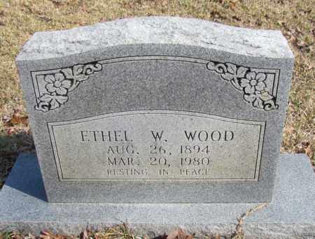 WOOD, ETHEL W - Van Buren County, Arkansas | ETHEL W WOOD - Arkansas Gravestone Photos
