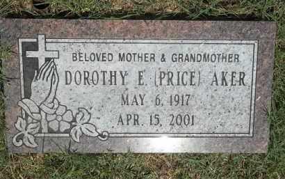 PRICE AKER, DOROTHY E - Washington County, Arkansas | DOROTHY E PRICE AKER - Arkansas Gravestone Photos