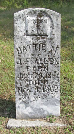 ALLEN, HATTIE M - Washington County, Arkansas   HATTIE M ALLEN - Arkansas Gravestone Photos