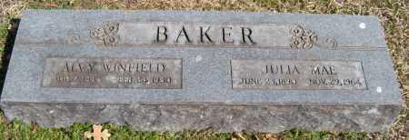 BAKER, ALVY WINFIELD - Washington County, Arkansas | ALVY WINFIELD BAKER - Arkansas Gravestone Photos