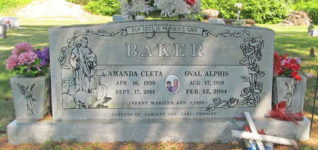 BAKER, AMANDA CLETA - Washington County, Arkansas | AMANDA CLETA BAKER - Arkansas Gravestone Photos